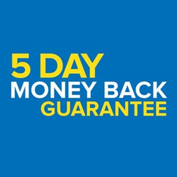 5 days money back guarantee